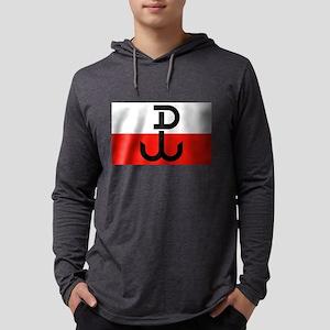 Polish Resistance Flag Long Sleeve T-Shirt