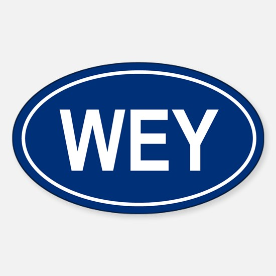WEY Oval Decal