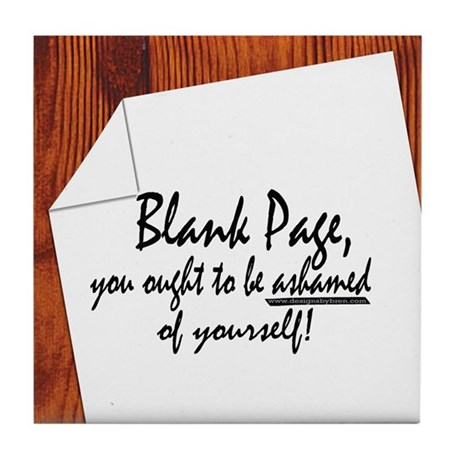 Blank Page Tile Coaster