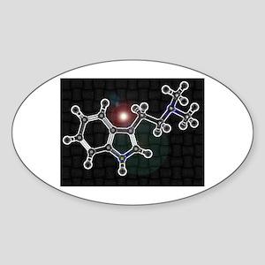 DMT molecule Oval Sticker
