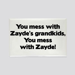 Don't Mess with Zayde's Grandkids! Rectangle Magne