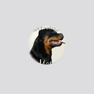 Rottweiler Mom Mini Button