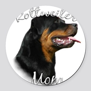 Rottweiler Mom Round Car Magnet