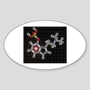 Psilocyben molecule Oval Sticker