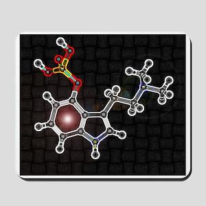 Psilocyben molecule Mousepad