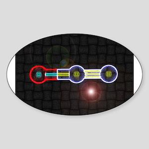 Nitrous-Oxide molecule Oval Sticker