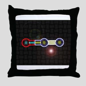 Nitrous-Oxide molecule Throw Pillow