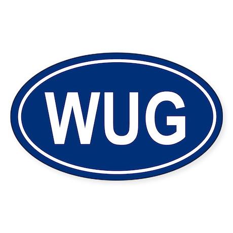 WUG Oval Sticker