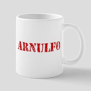 Arnulfo Rustic Stencil Design Mugs