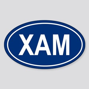 XAM Oval Sticker