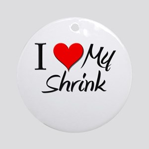 I Heart My Shrink Ornament (Round)