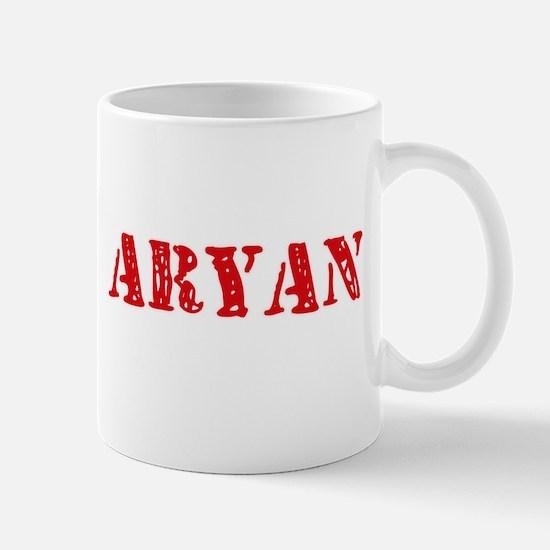 Aryan Rustic Stencil Design Mugs