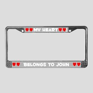 My Heart: John (#006) License Plate Frame