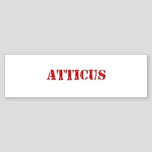 Atticus Rustic Stencil Design Bumper Sticker