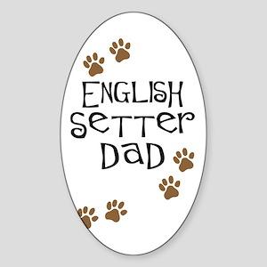 English Setter Dad Oval Sticker