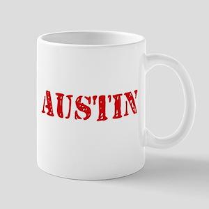 Austin Rustic Stencil Design Mugs
