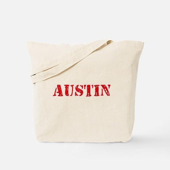 Austin Rustic Stencil Design Tote Bag