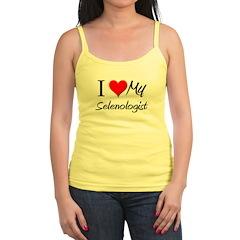 I Heart My Selenologist Jr.Spaghetti Strap