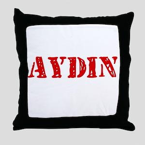 Aydin Rustic Stencil Design Throw Pillow
