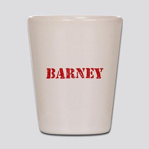 Barney Rustic Stencil Design Shot Glass