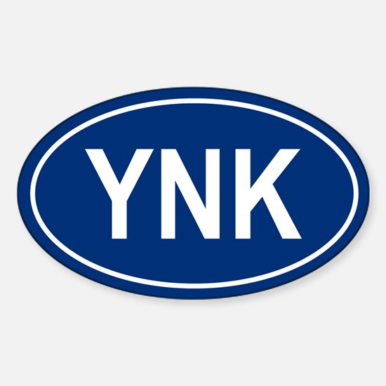 YNK Oval Decal