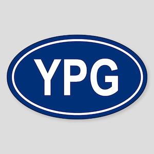 YPG Oval Sticker