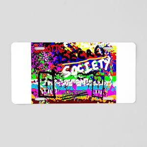 SECRET SOCIETY Aluminum License Plate