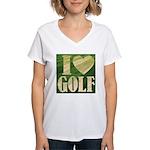 I Love Golf Women's V-Neck T-Shirt