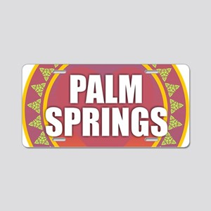 Palm Springs Sun Aluminum License Plate
