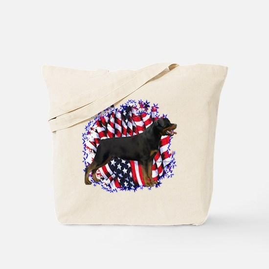 Rottweiler Flag Tote Bag