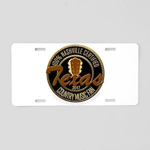 Nashville TX Country Music Aluminum License Plate