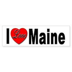 I Love Maine Bumper Bumper Sticker