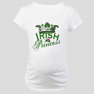 Irish Princess Tiara Maternity T-Shirt