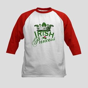 Irish Princess Tiara Kids Baseball Jersey