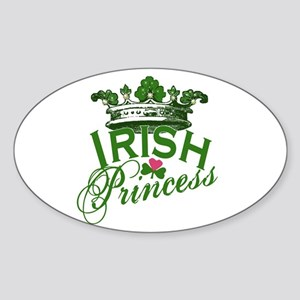 Irish Princess Tiara Oval Sticker