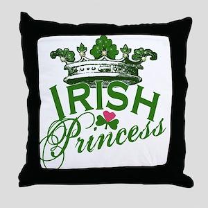 Irish Princess Tiara Throw Pillow