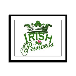 Irish Princess Tiara Framed Panel Print