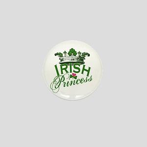 Irish Princess Tiara Mini Button