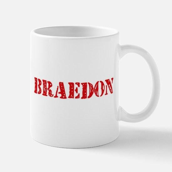 Braedon Rustic Stencil Design Mugs
