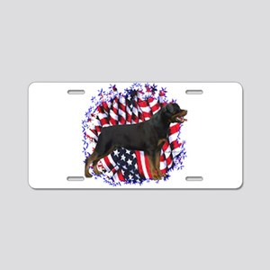 Rottweiler Flag Aluminum License Plate
