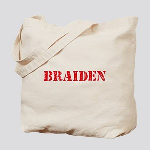 Braiden Rustic Stencil Design Tote Bag
