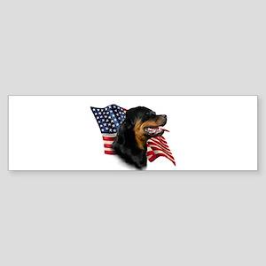 Rottweiler Flag Bumper Sticker