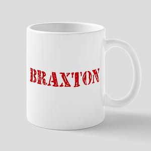 Braxton Rustic Stencil Design Mugs