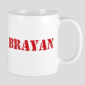 Brayan Rustic Stencil Design Mugs