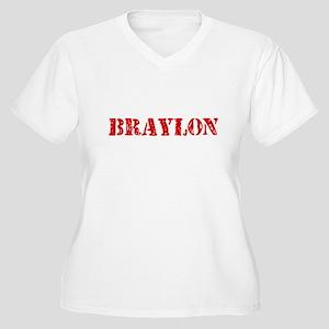 Braylon Rustic Stencil Design Plus Size T-Shirt