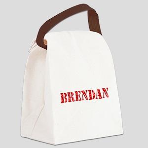 Brendan Rustic Stencil Design Canvas Lunch Bag
