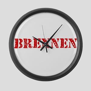 Brennen Rustic Stencil Design Large Wall Clock