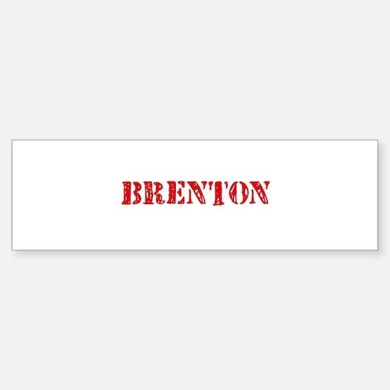 Brenton Rustic Stencil Design Bumper Bumper Bumper Sticker