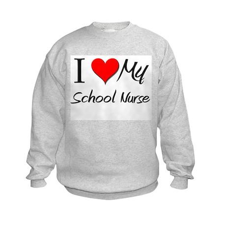 I Heart My School Nurse Kids Sweatshirt