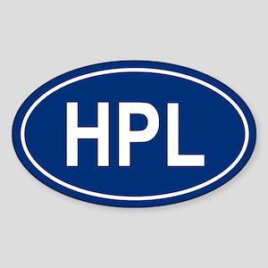 HPL Oval Sticker